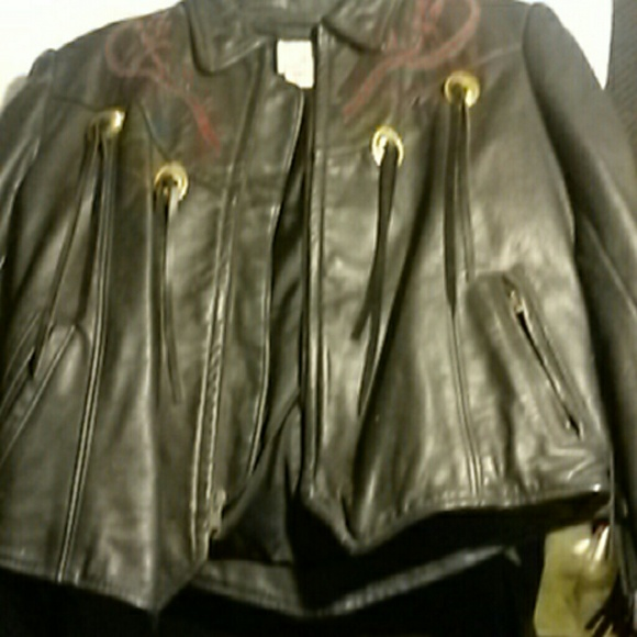 e399b7e5b Vintage Women's Leather Motorcycle Jacket Starwest